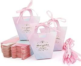 Maojuee - Cajas de regalo para bodas, 50 unidades, cajas de regalo para dulces, hermosas cajas de regalo, cajas de dulces para regalo, para bodas, bautismo, cumpleaños, Navidad, comunión, graduación (rosa)