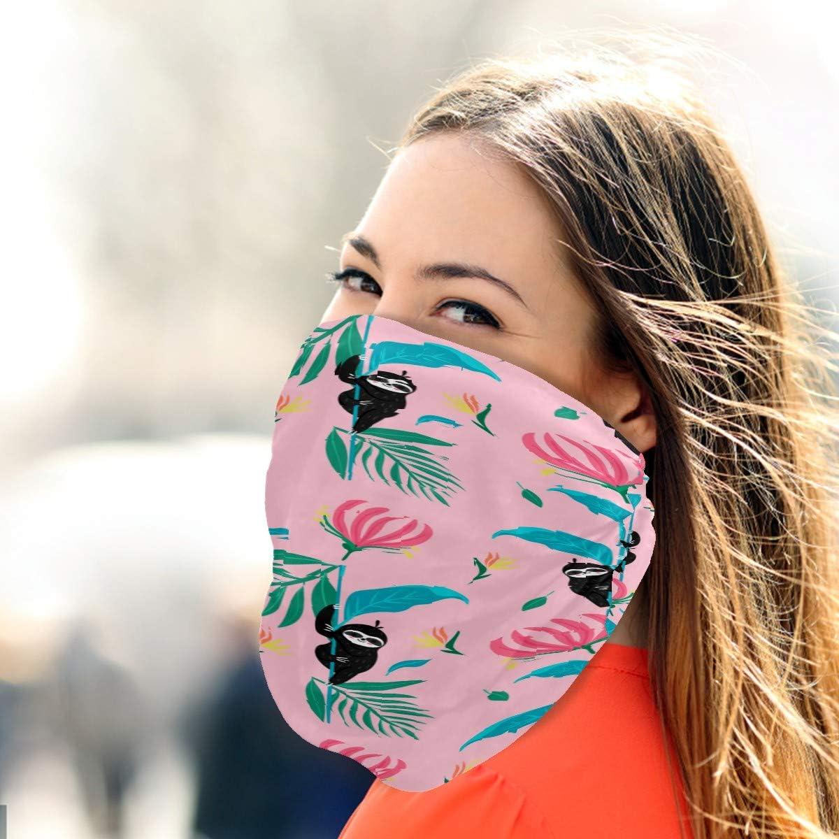 Neck Gaiter Face Scarf Mask-Dust, Women Balaclava Bandana Daisy Flowers