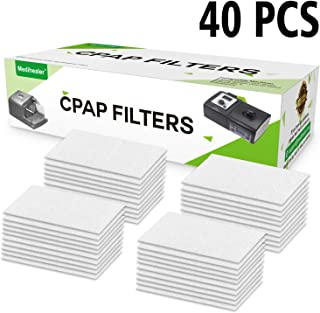 CPAP Fine Filters 40 Packs - CPAP Ultra Fine Filter for M Series, PR System One and SleepEasy Series Machines, Premium Disposable Universal Filter - Medihealer Replacement Filters Supplies