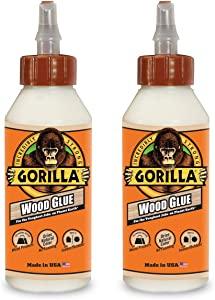 Gorilla Wood Glue, 8 ounce Bottle, (Pack of 2) - 6200013