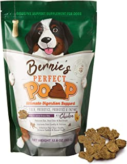 Perfect Poop Digestion & Health Supplement for Dogs: Fiber, Prebiotics, Probiotics, Enzymes Digestive, Hard & Soft Stool, ...