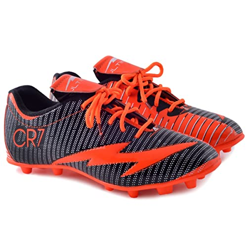 e56f11f404e4 PIPILIKA Sports Ultimate CR7 Orange Black Football Shoe Boots Footwear