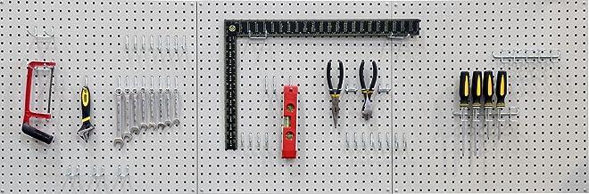 Werkzeuglochwand Lochblech Lochwand mit Hakenset DREAMADE Werkzeugwand Lochwand aus Eisen Werkzeughalter Werkzeughalterung Wandpalatten Lagersystem