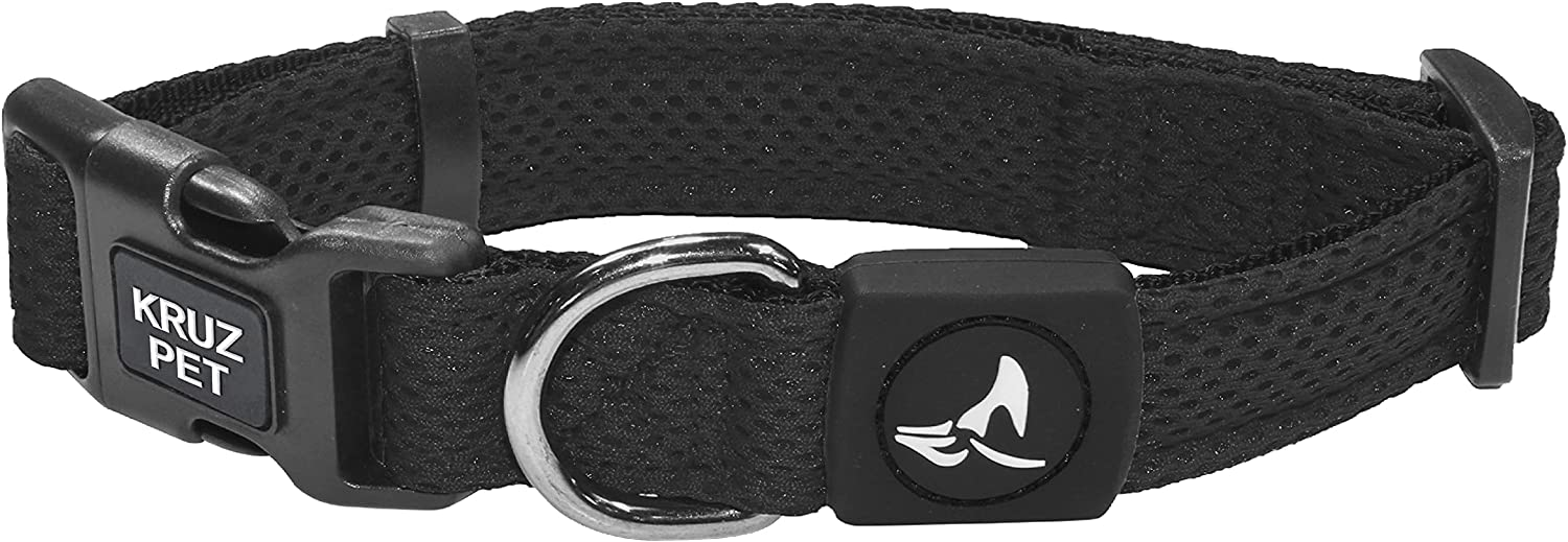 Kruz PET Mesh Dog Selling and selling Collar for Small Large Max 51% OFF Medium Dogs Adjustab