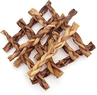 GigaBite 12 Inch Odor-Free Braided Bully Sticks (10 Pack) – USDA & FDA Certified All Natural, Free Range Beef Pizzle Dog Treat – By Best Pet Supplies