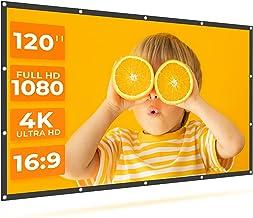 VANKYO StayTrue Projector Screen, 120 Inch Projection Screen 4K HD, 16:9, Foldable Wrinkle-Free Movies Screen(1.1 GAIN, 16...