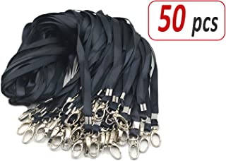 Aobear 50pcs 32 inch Top Quality Black Lanyard with Badge Clip