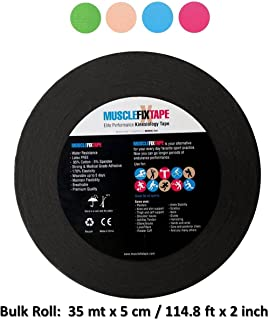 Kinesiology Tape Bulk Roll - Sports Therapeutic Kinetic Athletic Recovery - Breathable Water Resistant Strong Adhesive Pain Relief Therapy