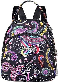 Fresh wild simple fashion Lightweight Nylon Backpack Waterproof Multi-pocket Shoulder Bag Girl's Bag Wallet,Size:19x9x22c...