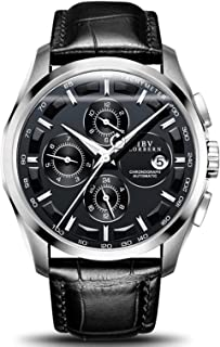 Men's Automatic Self-Wind Watch Sapphire Stainless Steel Or Genuine Leather Band Waterproof Swiss Watches