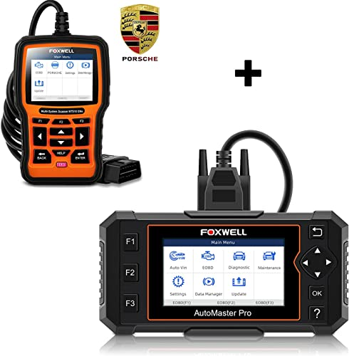 popular FOXWELL outlet online sale NT614 Elite OBD2 Scanner and discount NT510 Elite Full-System Diagnostic Tool for Porsche sale