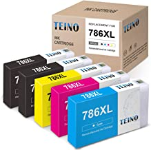 TEINO Remanufactured Ink Cartridges Replacement for Epson 786XL 786 XL T786XL use with Epson Workforce Pro WF-4630 WF-5690 WF-5620 WF-5110 WF-5190 WF-4640 (Black, Cyan, Magenta, Yellow, 5-Pack)