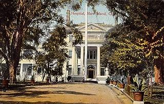 Mare Island California Hospital Street View Antique Postcard K106385