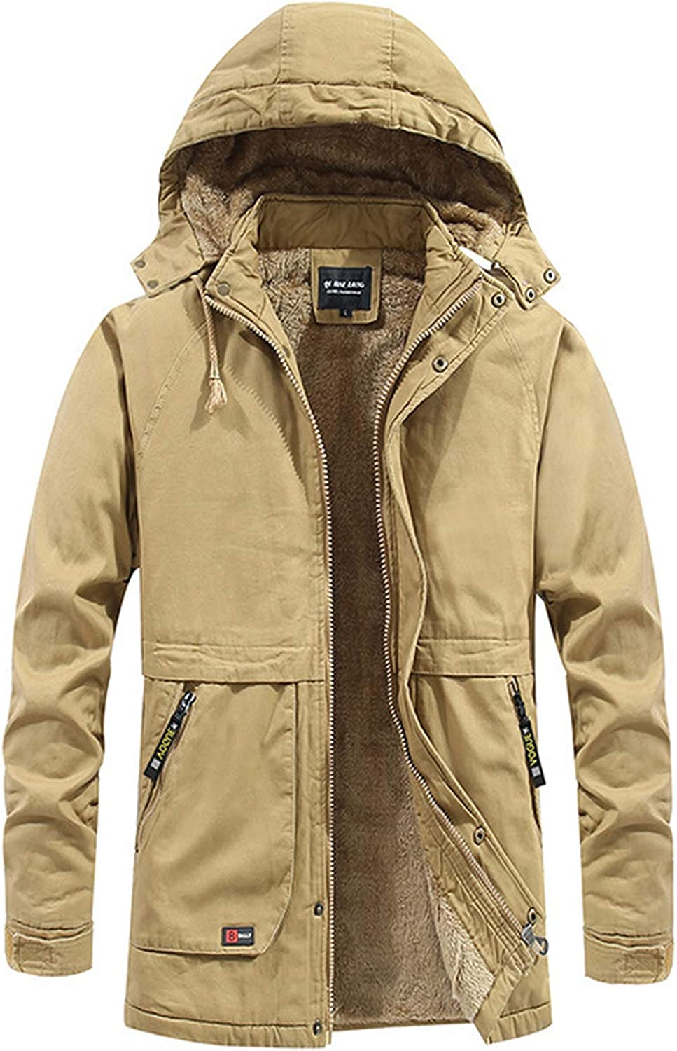 Men Winter Coats with Hood New arrival Fleece H Thicken online shopping Lining Casual Jacket