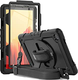 Samsung Galaxy Tab A7 Case 2020 | Herize SM-T500/T505/T507 Case with Screen Protector | Heavy Duty Shockproof Rugged Case ...