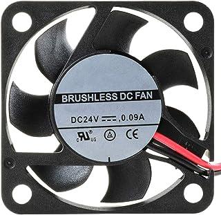 NTE Electronics 77-4010D24 High Speed Fan, Ball Bearing, Thermal Plastic Wire Lead, 40 mm L x 40 mm H x 10 mm T, 24 VDC, 7...