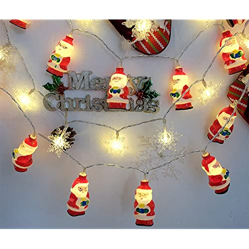 Led String Snowman Led Fairy Lamp String Lights Santa Led Christmas Light Garden Indoor Christmas Party Wedding Home Decoration Night Light Fast Color Lights & Lighting