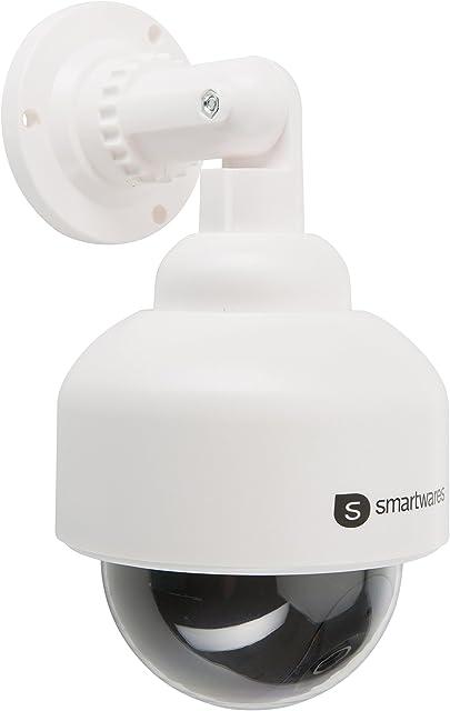 Smartwares 10.016.07 (CS88D) Cámara ficticia (Interior y Exterior luz LED) Negro 1.5 V Color blanco