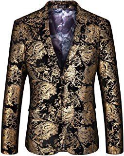 Insun Men's Luxury Casual Blazer Slim Fit Suit Jacket Party Coat
