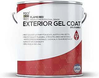Flame RED Boat Paint Brushable Exterior Gel Coat KIT, 1 Quart W/ 1 OZ MEKP, Fiberglass Coatings, Inc, Professional Marine GELCOAT Specialists, Boat Exterior Hulls, Boat Interior Decking, DIY Projects