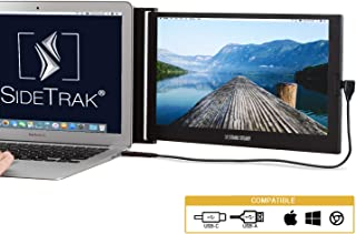 """SideTrak Portable Monitor for Laptop 12.5"""" FHD 1080P IPS Attachable Laptop Screen 