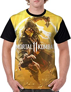 Niuhuang Tablets Men's 2019 MKortal11 Cool Short Sleeve T-Shirt Print T-Shirt