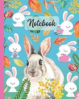 Notebook: Rabbit / Bunny - Pet Animals Diary / Notes / Track / Log / Journal , Book Gifts For Women Men Kids Teens Girls Boys Friends 8x10
