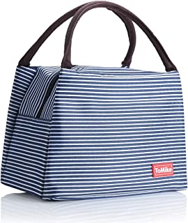 Lunch Bags for Women Insulated Lunch Box Lunch Boxes for Kids Lunch Tote Cooler Bag Great Gifts For Women Teacher Gifts ToMike (Navy Blue)