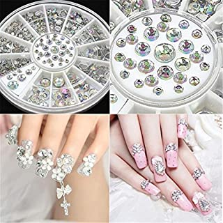 SMYTShop Mixed DIY Size Glitter Rhinestones Charm 3D Nail Art Decoration Accessories