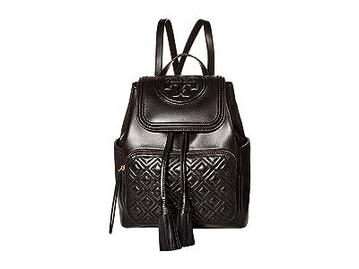 Tory Burch Fleming Backpack (Black) Backpack Bags