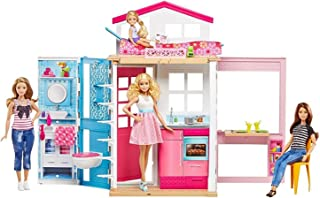 barbie 2 story house with furniture & accessories