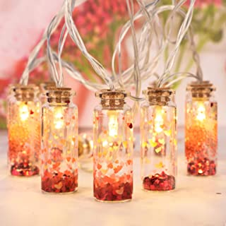 Impress Life Wishing Bottle String Lights for Valentine's Day, Romantic Themed Decorative, 10ft 10LEDs Battery & USB Power...