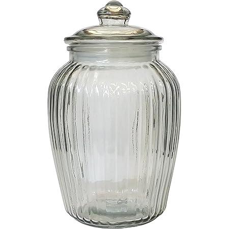 リビング 保存容器 キャニスター ガラス クッキージャー SSサイズ 目安容量約 2.3L 径15.5×高さ24.5cm クリア アーモンド