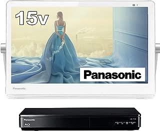 パナソニック 15V型 ポータブル 液晶テレビ インターネット動画対応 プライベート・ビエラ 防水タイプ 500GB HDD録画/ブルーレイ再生機能付き ホワイト UN-15TD9-W