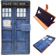 G4 Case, LG G4 Wallet CASE - Tardis Blue Police Call Box Pattern Premium PU Leather Wallet Case Stand Cover with Card Slots, Cash Compartment for LG G4 - Cool as Great Gift