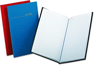 Boorum & Pease BOR96334 Record/Account Book, Record Rule, Vinyl Assorted Covers, 12-1/8x7-1/2, 150 pgs