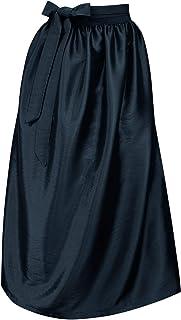 Trachten Mayr Schürze für Dirndl Trachtenschürze Trachtenkleid Dirndlkleid Dirndlschürze Taftschürze Trachtenmode einfärbig uni Taft grün pink rot rosa blau schwarz Glanz apron