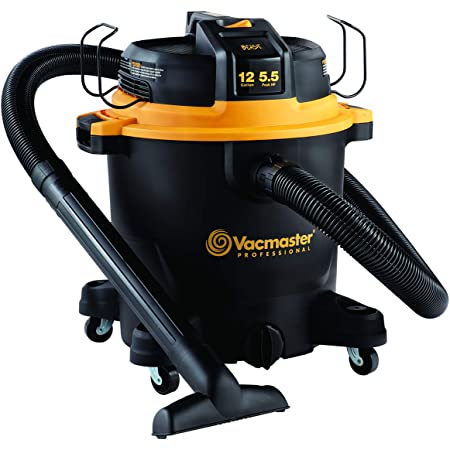 "Vacmaster Professional - Professional Wet/Dry Vac, 12 Gallon, Beast Series, 5.5 HP 2-1/2"" Hose (VJH1211PF0201) , Black"