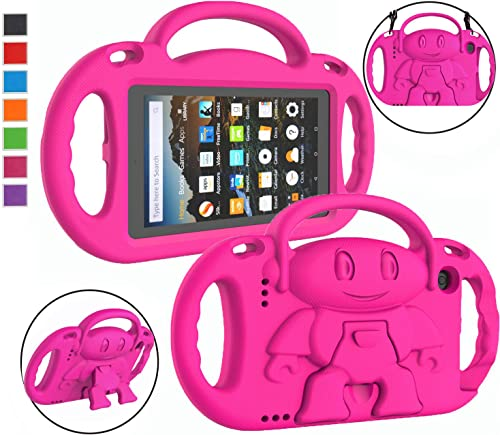 LTROP Kids Case for Amazon Kindle Fire 7 Tablet (9th Generation - 2019 Release) - Shockproof Handle Friendly Kids Sta...