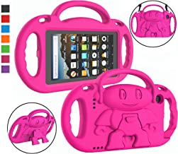 LTROP Kids Case for Amazon Kindle Fire 7 Tablet (9th Generation - 2019 Release) - Shockproof Handle Friendly Kids Stand Ca...