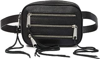 Rebecca Minkoff 3 Zip Leather Belt Bag, Black