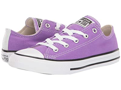 Converse Kids Chuck Taylor(r) All-Star(r) Galaxy Dust Ox (Little Kid/Big Kid) (Bright Violet/Natural Ivory/White) Girls Shoes