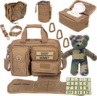 Tactical Baby Gear Full Load Out 2.0 Tactical Diaper Bag Set (Coyote Brown)