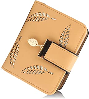 Jstrive Women RFID Blocking Small Organizer Wallet For Ladies Vintage Hollow Purse Multi Card Holder