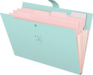 Skydue Letter A4 Paper Expanding File Folder Pockets Accordion Document Organizer (Jade)