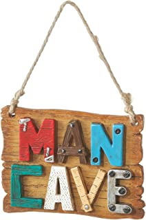 Man Cave Sign Resin Stone Christmas Tree Ornament