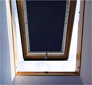 Purovi Thermo Sonnenschutz für Dachfenster | Hitzeschutz für Innen | ohne Bohren ohne kleben | große Auswahl für Velux  Roto Fenster | Ausgewählte Größe: Roto 6/14 – 43 x 118 cm