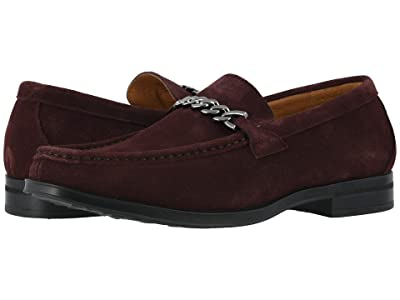 Stacy Adams Norwood Moc Toe Bit Slip-On (Oxblood Suede) Men