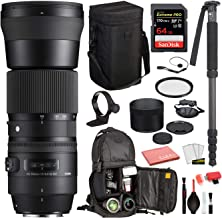 $800 » Sigma 150-600mm f/5-6.3 DG OS HSM Contemporary Lens for Canon EF with Bundles: SanDisk Extreme Pro 64gb SD Card + More