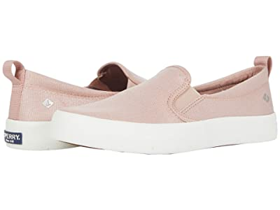 Sperry Crest Twin Gore Sparkle Textile (Blush) Women